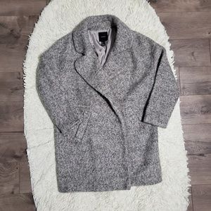 Forever 21 Wool Blend Tweed Topcoat